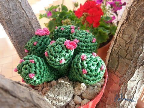 Tutorial crochet/ganchillo, cactus bolitas - YouTube