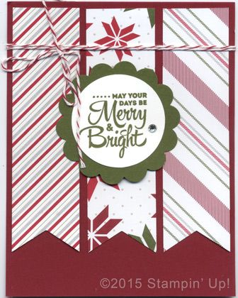 Stampin' Up! Christmas Cards - Lots of Joy stamp set and Merry Moments DSP