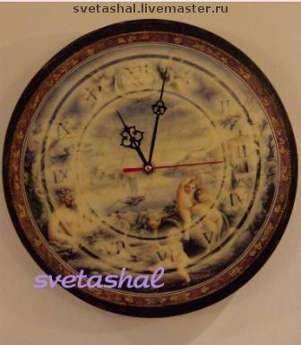 """Купить Часы настенные """"Венецианская рапсодия"""" - часы, часы настенные, винтаж, винтажный стиль, венеция"""