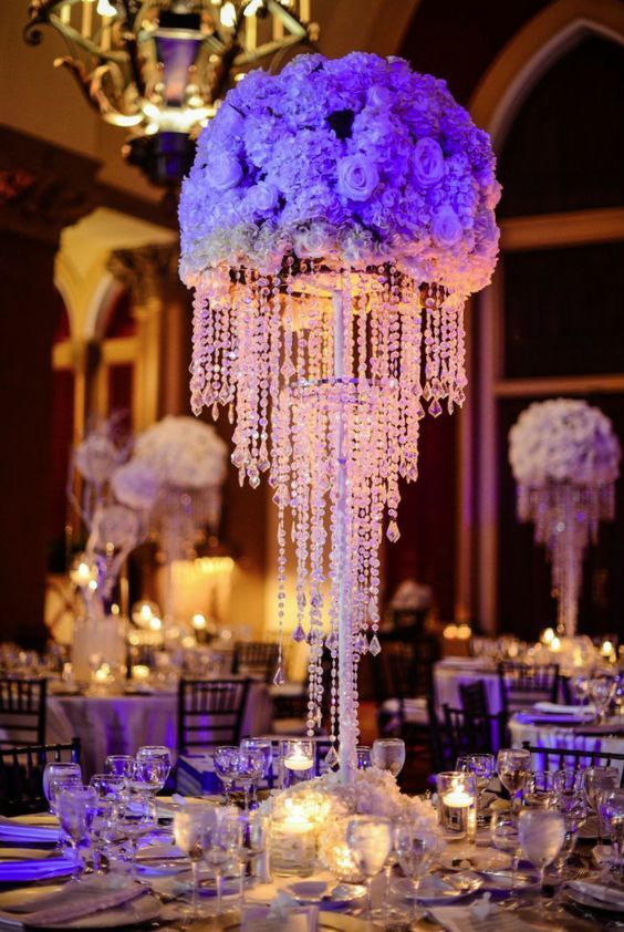 Featured Photographer: Domino Arts Photography; Wedding reception centerpiece.