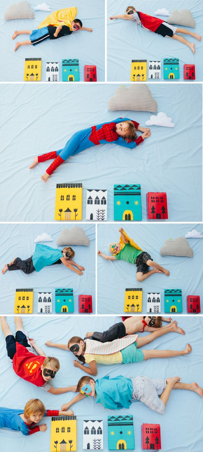Superhero photo booth. What a neat concept! I could even make an activity with kids where they are the characters in the story books, and have backdrops like this..
