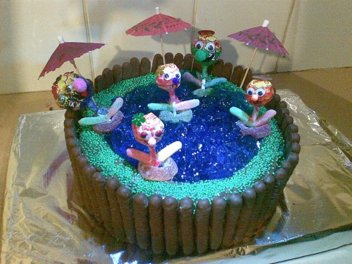Sienna's pool cake
