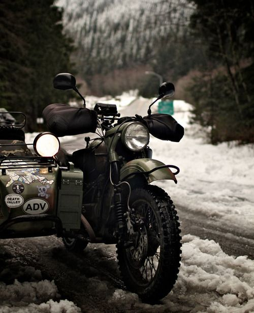 • info by original pinner: Ural w/ sidecar
