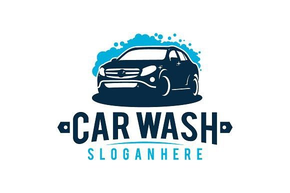 Car Wash Logo Vintage Vector Backgrounds Backgrounds Logos Car