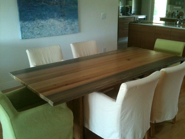 Contemporary Table Made From Recovered Sinker Cypress · Home Improvements Dining Room DesignDining ...