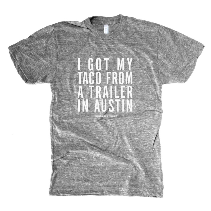 Austin Taco Trailer Men's Tee  by The Social Dept.