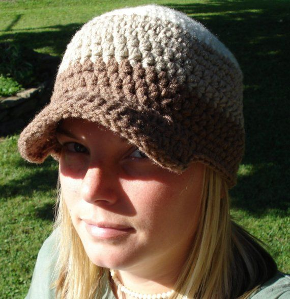 Crochet Baseball Hat Hippie Rasta Bill Cap by groovvykindalove