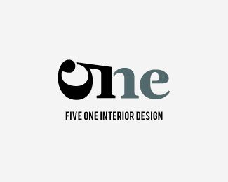 Five One Design Is A Typography Logo From Designer Luma Vine Creative