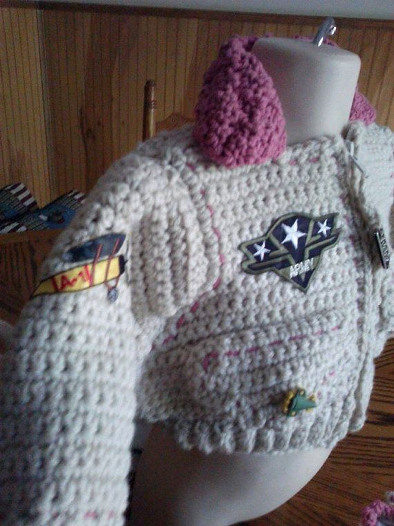 Army Baby Bomber Jacket Aviator Hat and by inkybinkyproductions, $45.00