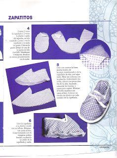 MIS MANUALIDADES Y ALGO MAS: Zapatitos de tela para bebés con patrones