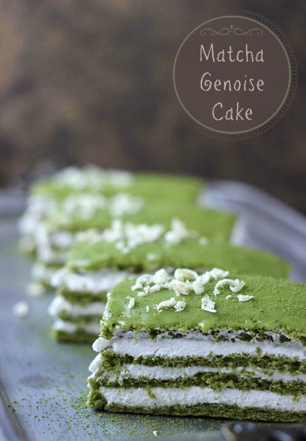 Matcha Genoise Cake - Blahnik Baker