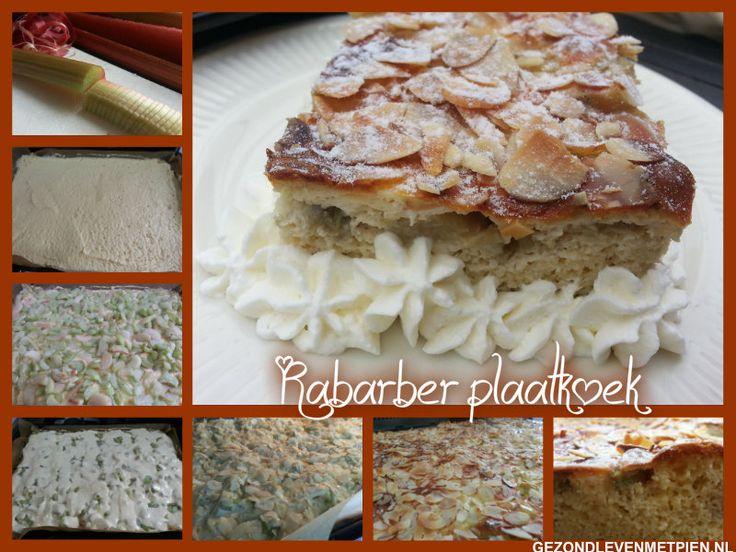 Rabarber plaatkoek glutenvrij en suikervrij  Rabarber bevat een hoog gehalte aan calcium, magnesium, fosfor en kalium. Zeer gezond dus.  Deze rabarber plaatkoek is suikervrij, koolhydraatarm, glutenvrij en GI-laag.