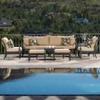 RST Brands Astoria 8-Piece Patio Seating Set with Delano Beige Cushions