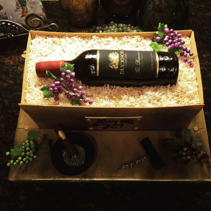 Wine bottle cake all edible