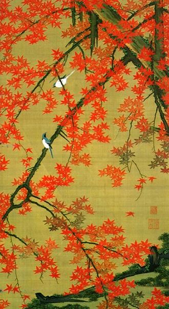 伊藤若冲 紅葉小禽図 1765年~1766年頃