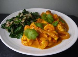 Low Calorie 5-2 Diet Prawn Curry, Coconut, Tomato for a 5-2 fast day