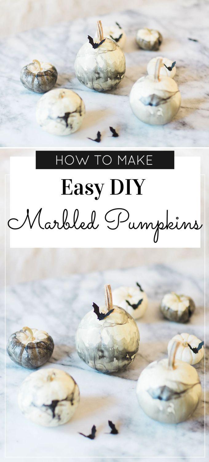 How to Make DIY Marbled Pumpkins    Glitter, Inc.