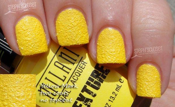 Milani Yellow Mark Texture Nail Polish