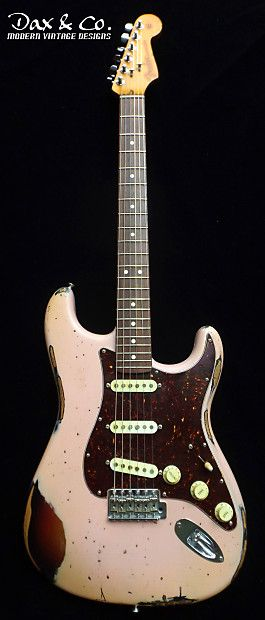 Fender USA Stratocaster Relic! Shell Pink over Sunburst
