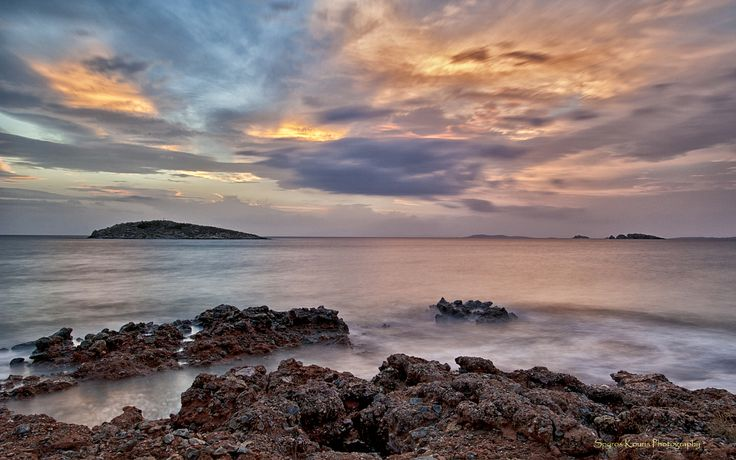 Landscape, Photography, Greece, Athens, Sunset, Islands, Aegean, Sea, Rocks