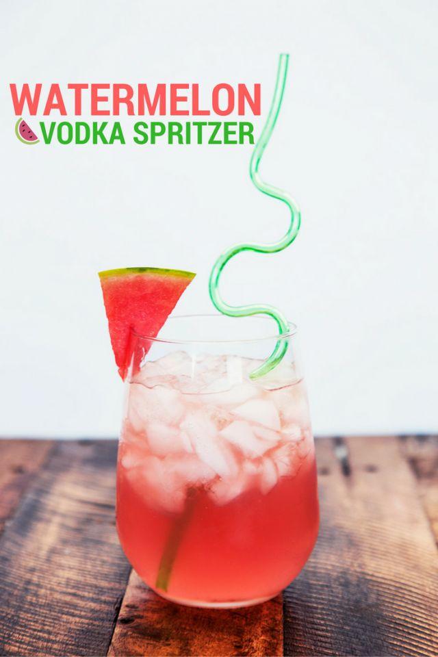 Watermelon Vodka Spritzer Drink Recipe #MixedWithTrop #ad