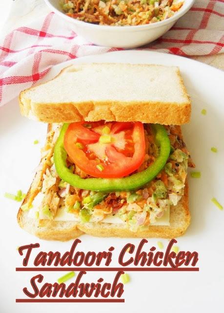 Skinny Tandoori Chicken Sandwich.....from scratch.