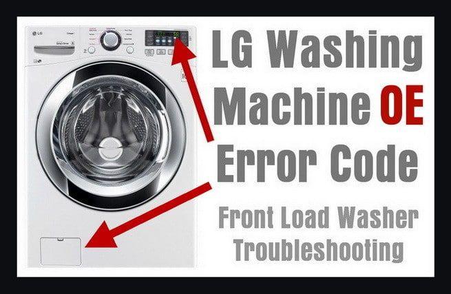 lg washing machine code fe