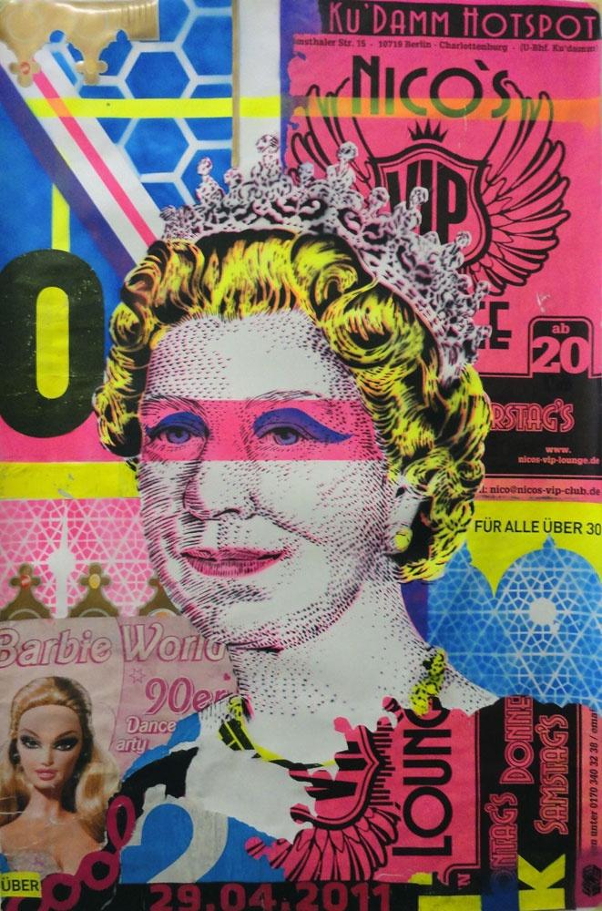 Ce tableau me fait penser a la vie un peux, parce qu'il est très coloré comme la vie et très jolie. Et il y a la reine d'Angleterre qui est notre reine a nous aussi.