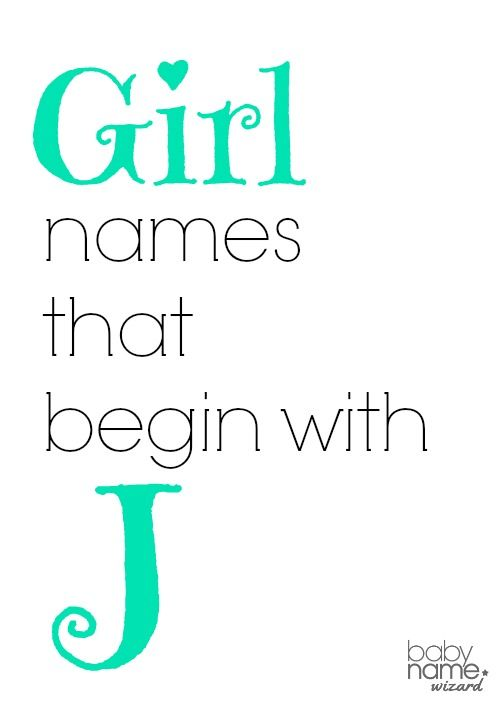 Girl names starting with J that includes meanings, origins, popularity, pronunciations, sibling names, and more! #babynames