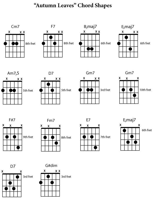 Afbeeldingsresultaat voor gypsy jazz guitar chord shapes | music ...