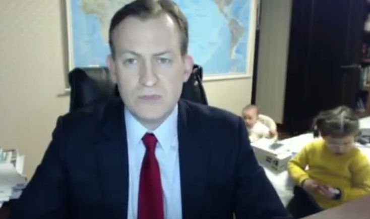 A BBC News morning show went off the rails Friday when two unexpected young guests crashed an expert's serious commentary about South Korea.