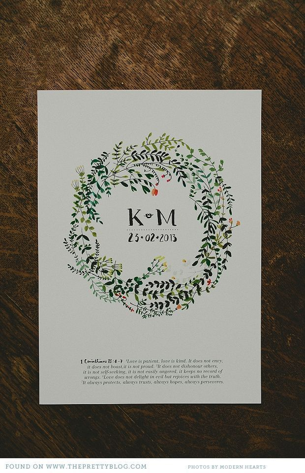 Nature inspired wedding stationery | Photo: Modern Hearts, Stationery: Katrin Coetzer
