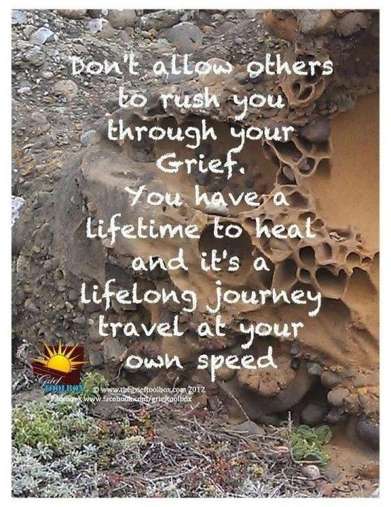 You never get over your loss. You find a way to keep going. People don't get that you are forever changed. #Grief