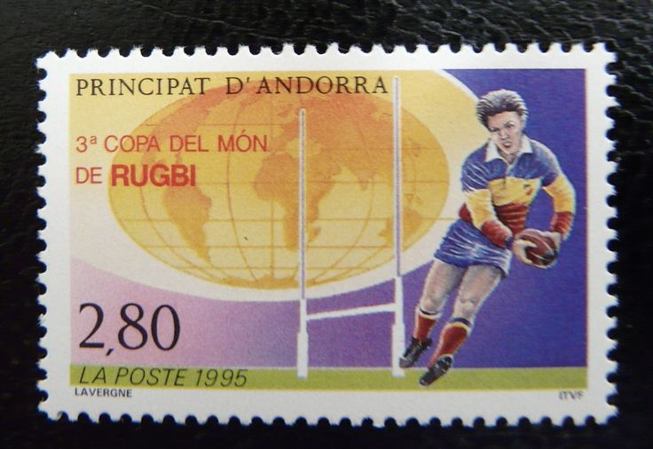 Andorra 1995 - For more #rugby collectables check out my blog: http://www.rocky-rugby.com/