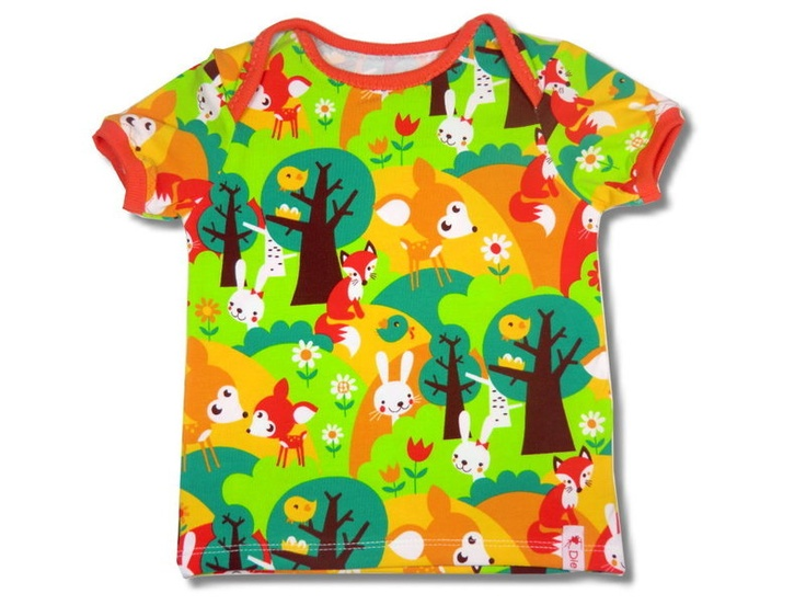 """T-Shirt """"Summer Forest""""    sewed from high-class fabrics    with envelope openings at the shoulders     GOTS-certificated    according to E-Book from"""