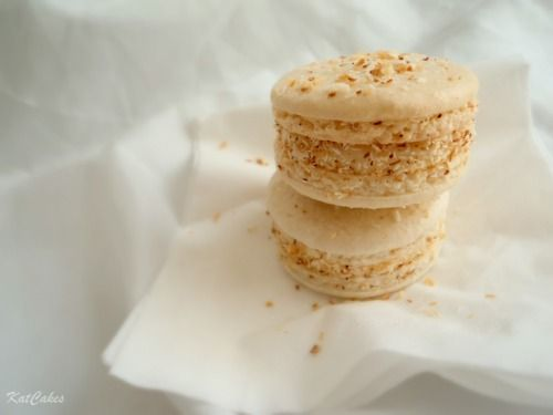 White Chocolate & Toasted Coconut Macaroons.