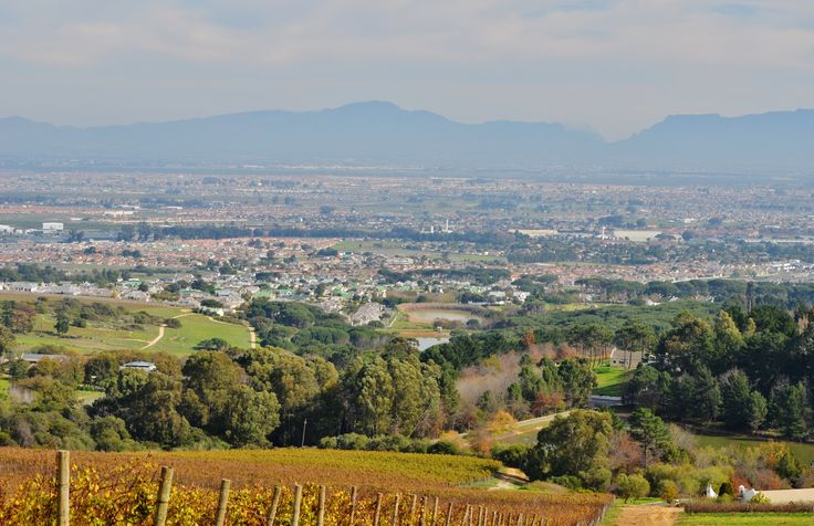 Views of Kuils River and the rest of Cape Town from the hill above Zevenwacht Wine Estate.  #zevenwacht #wineestate #Kuilsrivier #Kuilsriver #capetown