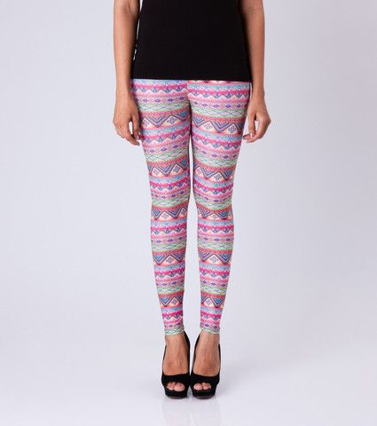 Pink Kitsch Leggings By ESL. Price: Rs. 350.00 Visit: http://bit.ly/1MEmoG6