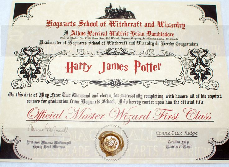 1000 images about birthday on pinterest harry potter for Hogwarts certificate