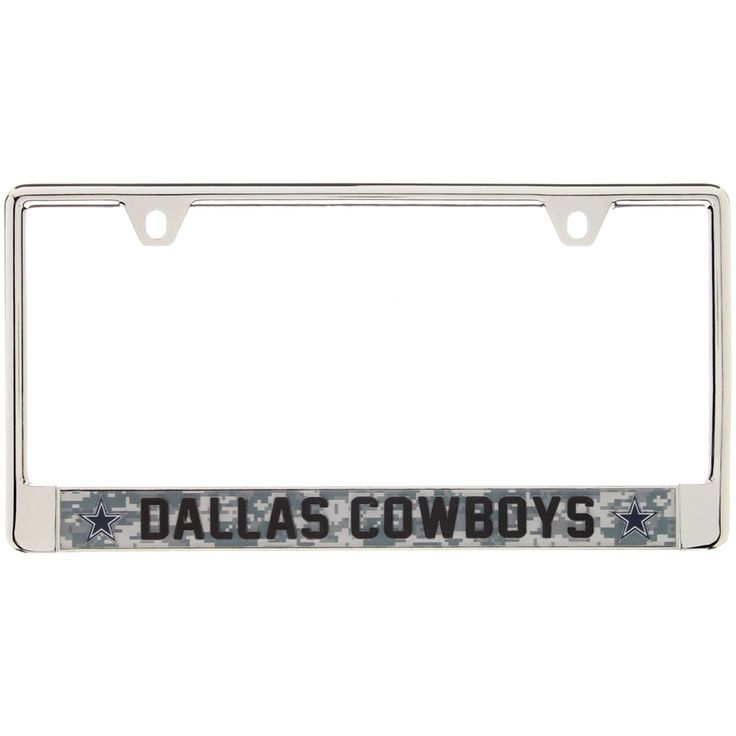 dallas cowboys digi camo license plate frame with black letters