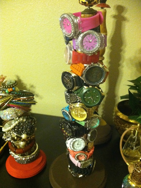 DIY bracelet and watch holder