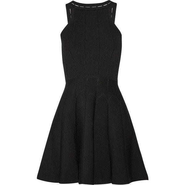 Cushnie et Ochs - Cutout Stretch-knit Mini Dress ($239) ❤ liked on Polyvore featuring dresses, black, cushnie et ochs, cut out mini dress, graduation dresses, graduation day dresses and short cut out dresses