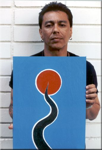 Randy Castillo with his drawing