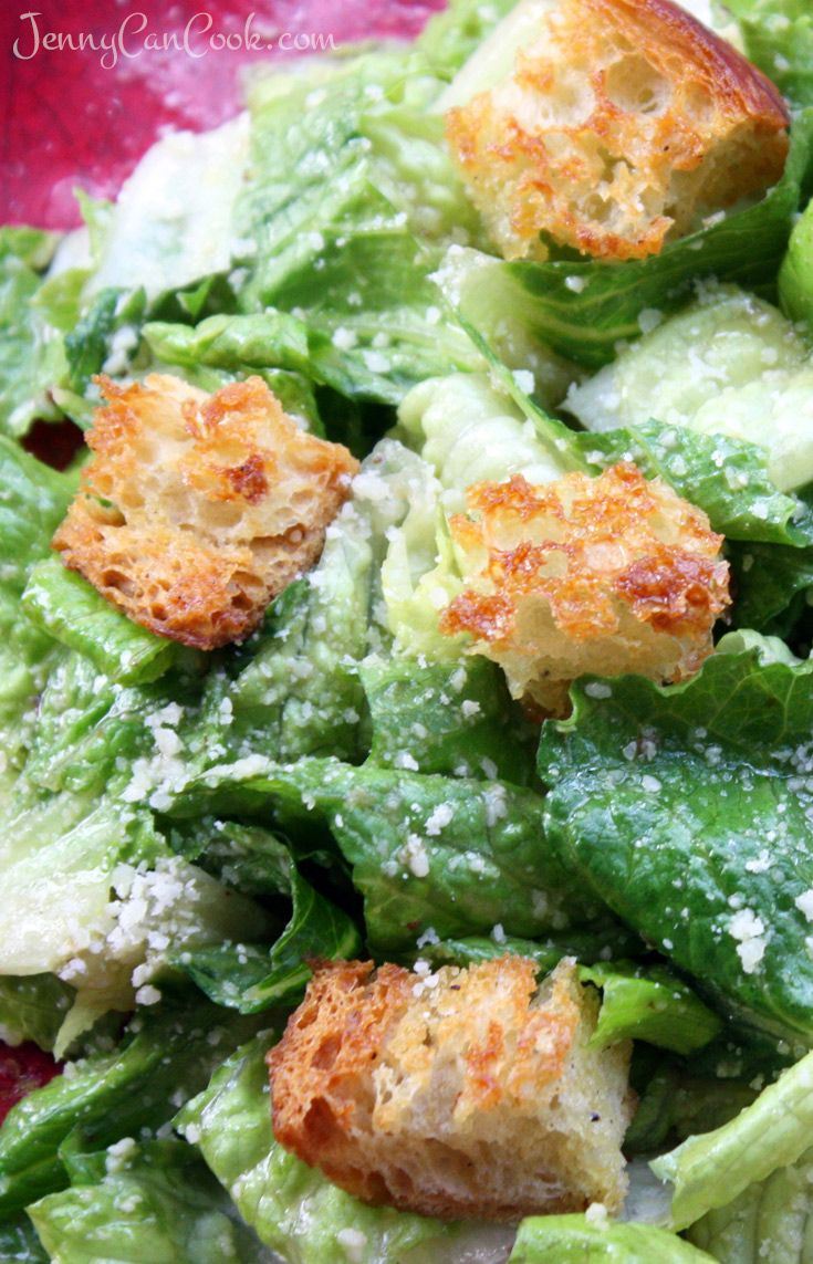 Homemade Caesar Salad recipe from Jenny Jones (JennyCanCook)