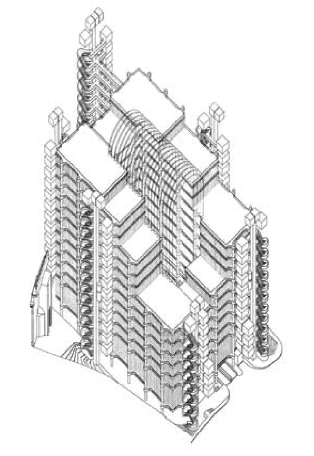 Buildings and Projects by Richard Rogers Partnership: Lloyd's of London Drawing