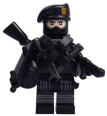 Custom LEGO Military Soldier Minifigure Model Soldiers US Modern Combat Paratrooper Black Beret Para Elite