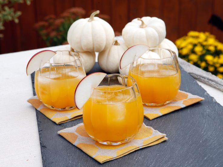 Pumpkin puree creates the soft texture of this tasty fall cocktail from Geoffrey Zakarian. He adds a little ginger beer at the end to really make it pop.