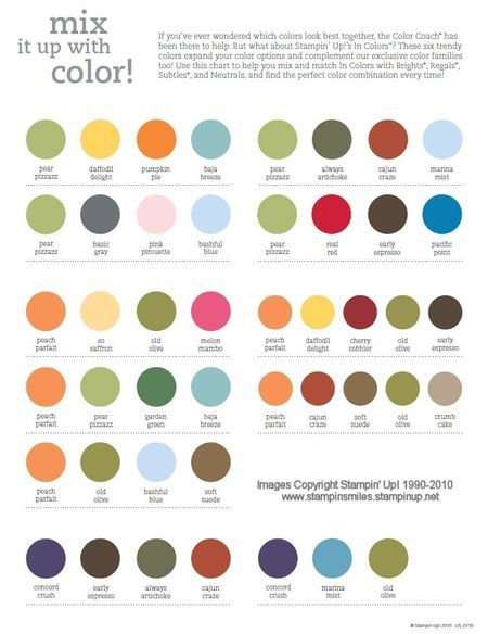 Perfect Color Combinations 132 best crafts- color chart images on pinterest | colors, color