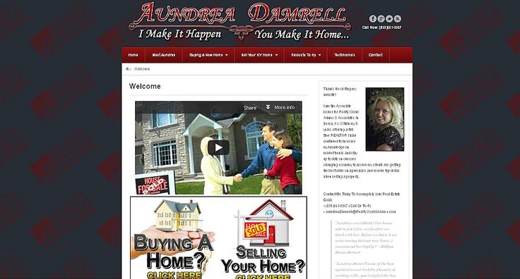 Aundrea Damrell - Realtor Site:AundreaDamrell.com Services: Web Design and Header Design