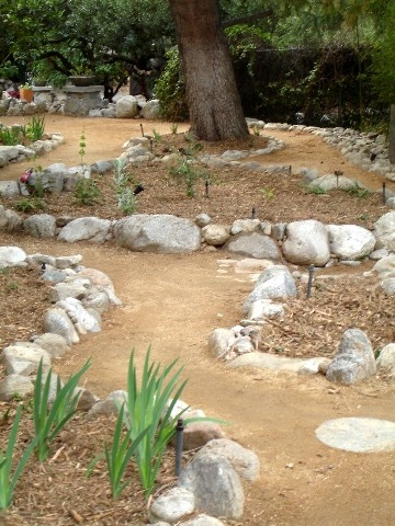 Decomposed granite paths. Indah Bulan, Claremont.